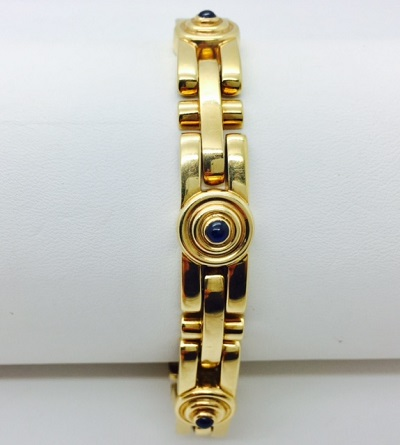 Aldebert 18K Gold and Sapphire Cabochon 2 Piece Set